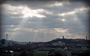 Radiating of light